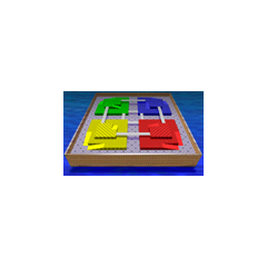 Block Fort's menu icon in <i>Mario Kart 64</i>.