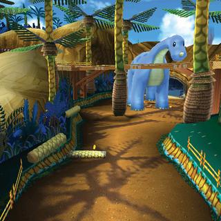 Dino Dino Jungle as it appears in <i>Mario Kart 7</i>.