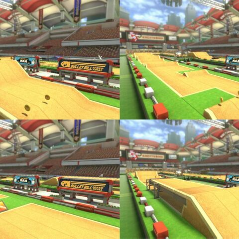 A collage showing some layouts of the course.