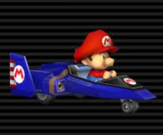 Baby Mario in the Blue Falcon