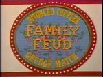 Family Feud Divorce Couples Gruge Match Logo