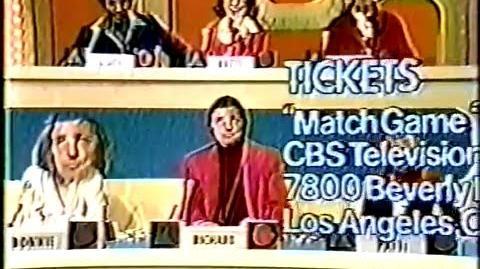 Match Game '76 ticket plug