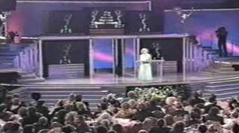 Betty White Presents to Mark Goodson - 1990