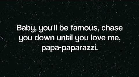 Paparazzi Lyrics