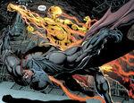 Reverse-Flash attacking Batman