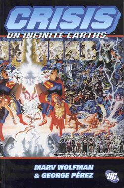 Cover for the Crisis on Infinite Earths Trade Paperback