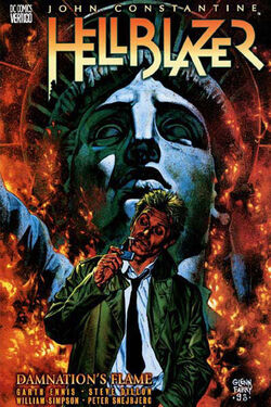Cover for the Hellblazer: Damnation's Flame Trade Paperback