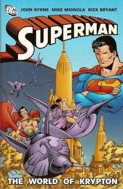 Cover for the Superman: The World of Krypton Trade Paperback