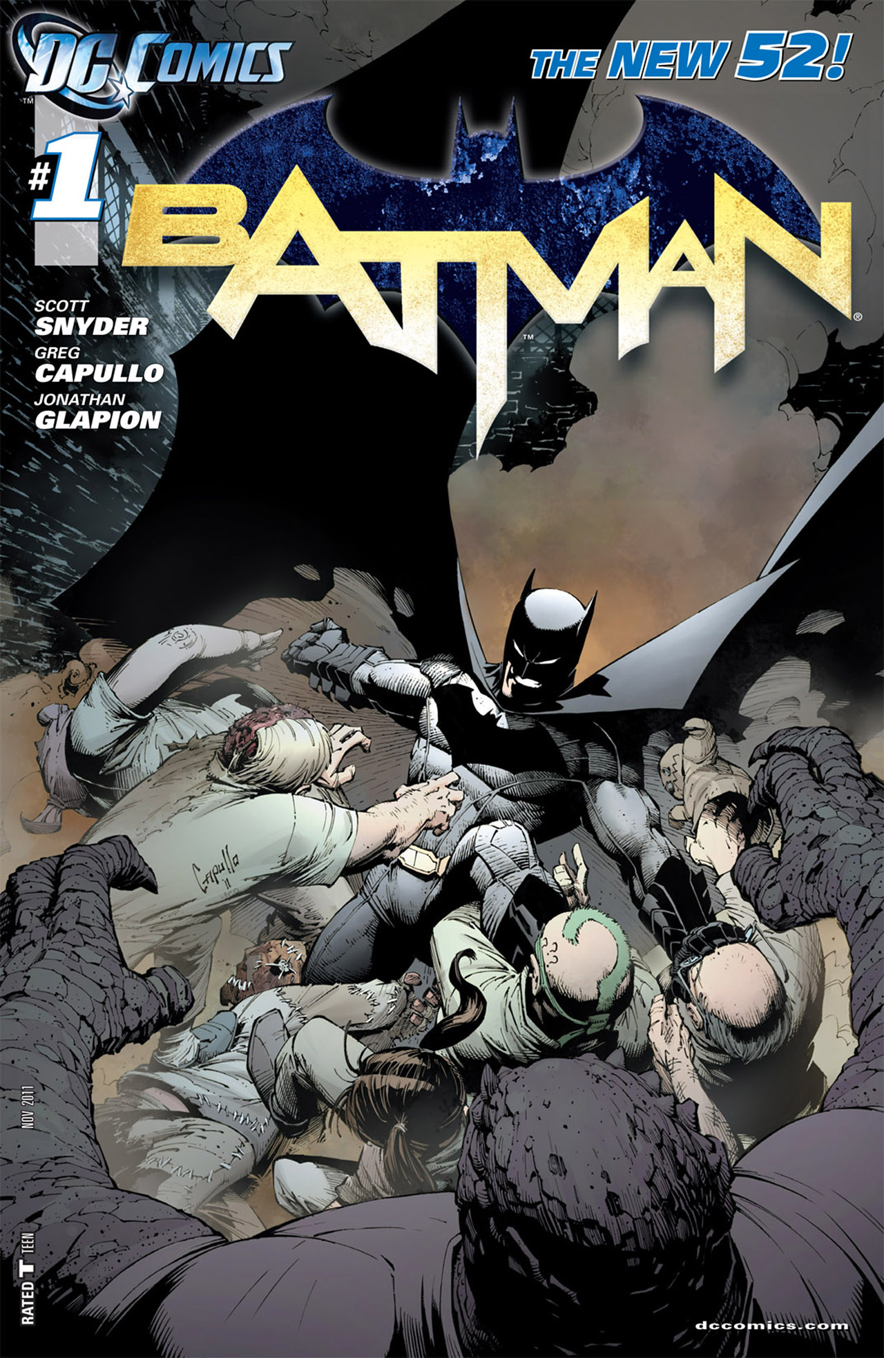 Image result for new 52 batman 1 comic cover