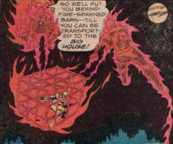 File:Crusaders (Earth-One) Fireball and Sparky.png