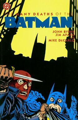 Cover for the The Many Deaths of the Batman Trade Paperback