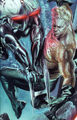 Black Manta (Justice) 001 and Arthur Curry (Justice) 004