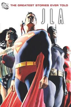 Cover for the JLA: The Greatest Stories Ever Told Trade Paperback
