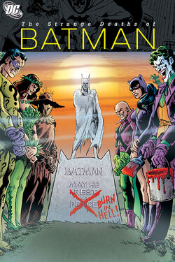 Cover for the The Strange Deaths of Batman Trade Paperback