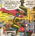 Batwoman rides the Batcycle