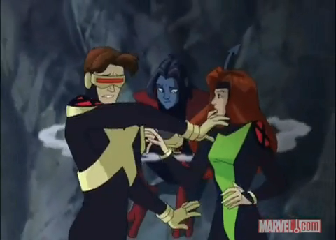 File:Scott and Jean are inturrupted by Nightcrawler XME.png