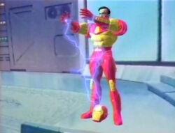 Iron Man Pulls Up Helmet