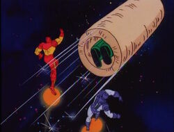 Iron Man War Machine Throw Titanium Man