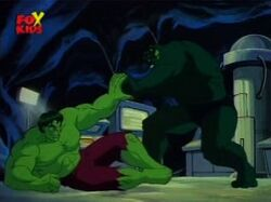 Hulk Stops Abomination Attack
