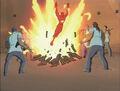 Human Torch Emerges From Bonfire.jpg