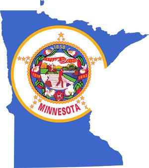 Minnesota flag map