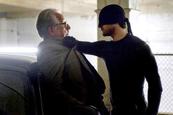 Daredevil confronts Leland Owlsley