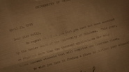 Agnes' Rejection Letter from University of Oklahoma