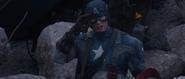 Captain America salutes Sergeant Barnes