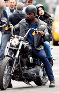 Jessica Jones Luke Cage set photo 3