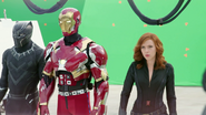 Black Panther, Iron Man & Black Widow (The Making of CACW)