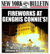 Fireworks at Genghis Connie's