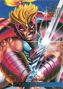 Gaveedra Seven (Mojoverse) from Marvel Annual Flair Trading Cards 1995 Set 0001
