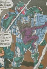 Full Acclimation Combat And Defence Explo-skeleton (Earth-616) from Web of Spider-Man Vol 1 113 0001
