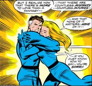 Reed and Sue Richards reconcile from Fantastic Four Vol 1 149