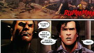 Marvel Zombies Vs. Army of Darkness Vol 1 2 page 15 Frank Castle (Earth-2149) and Ashley J. Williams (Earth-81879)