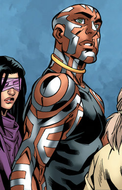 Nezhno Abidemi (Earth-616) and Ruth Aldine (Earth-616) from New X-Men Vol 2 23 0001
