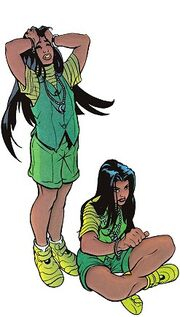 Claudette and Nicole St. Croix (Earth-616) from Generation X Vol 1 40 0001