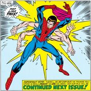 Peter Parker (Earth-616) with six arms from Amazing Spider-Man Vol 1 100.jpg
