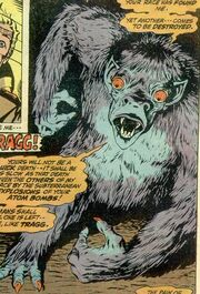 Tragg (Earth-616) from Monsters on the Prowl Vol 1 13 page --