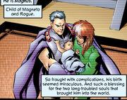 Rogue (Anna Marie), Erik Lehnsherr and Magnus Lehnsherr (Earth-27) from Exiles Vol 1 1 0001