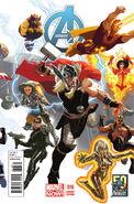 Avengers Vol 5 16 50 Years of Avengers Variant