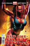 Red She-Hulk Vol 1 58 Horn Variant