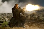 Nicholas Fury (Earth-199999) shooting
