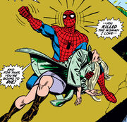 Peter Parker (Earth-616) and dead Gwendolyne Stacy (Earth-616) from Amazing Spider-Man Vol 1 121 0001.JPG