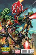 Avengers Vol 5 1 Midtown Comics Variant