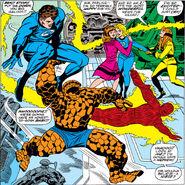 Fantastic Four celebrate Sue's Pregnancy from Fantastic Four Annual Vol 1 5