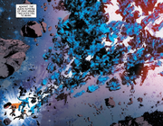 Thor Odinson (Earth-616) and Marcus Milton (Earth-13034) vs The Beyonders from New Avengers Vol 3 32 0001.png