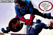 James Buchanan Barnes (Earth-616) and Steven Rogers (William Burnside) (Earth-616) from Captain America Vol 1 605 0002