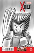 X-Men Vol 4 5 Black and White LEGO Variant