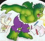 Bruce Banner (Earth-61011) from Spider-Man & Friends Hulk's Big Mess Vol 1 1 0001